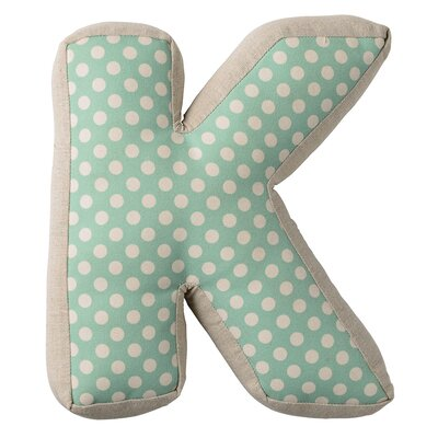 K with Pattern Cotton Throw Pillow