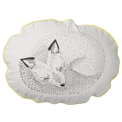 Sleeping Fox Cotton Throw Pillow