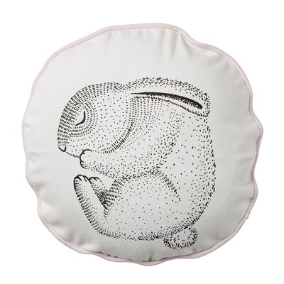Carson Sleeping Rabbit Cotton Throw Pillow