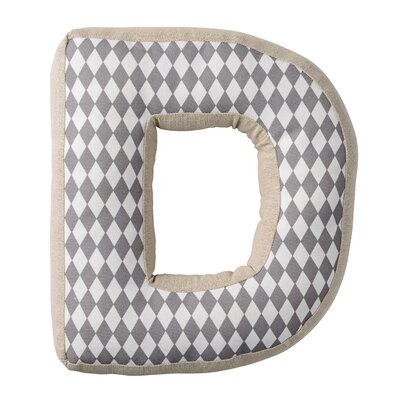 D with Pattern Cotton Throw Pillow