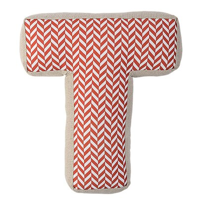 T with Pattern Cotton Throw Pillow
