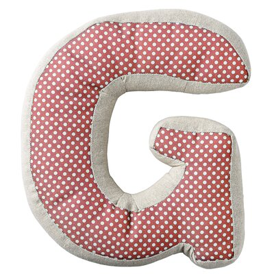G with Pattern Cotton Throw Pillow