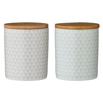 Ceramic 2 Piece Kitchen Canister Set
