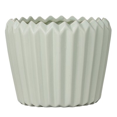 Fluted Ceramic Pot Planter
