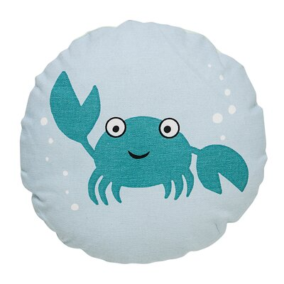 Crab Round Cotton Throw Pillow