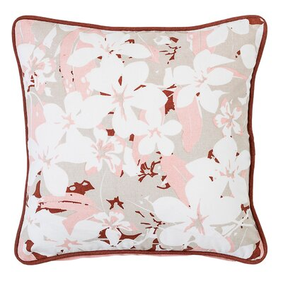 Floral Cotton Throw Pillow
