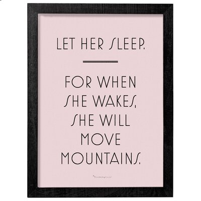 Let Her Sleep Framed Textual Art