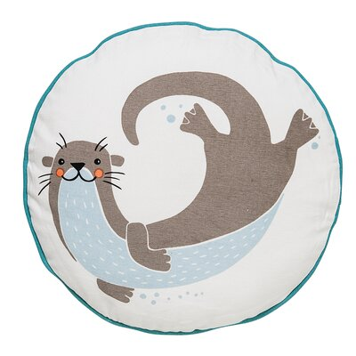 Sea Otter Cotton Throw Pillow