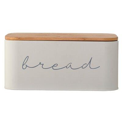 Serena Bamboo Metal Bread Box Bloomingville