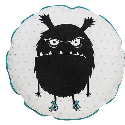 What Monster Cotton Throw Pillow