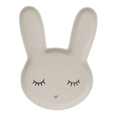 Bunny Ceramic Plate Bloomingville