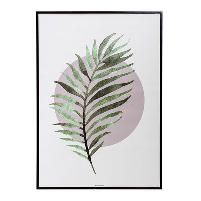 Metal Framed Fern Wall Art