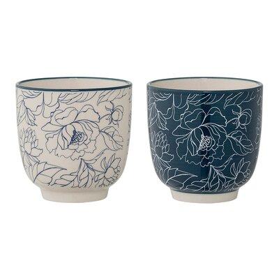 Bloomingville Ceramic Floral Cup A21106753SET