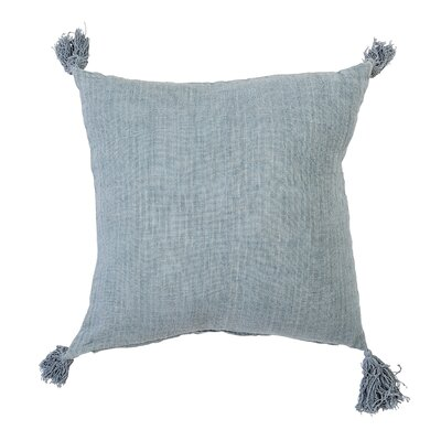 Bilderback Linen Throw Pillow Color: Green