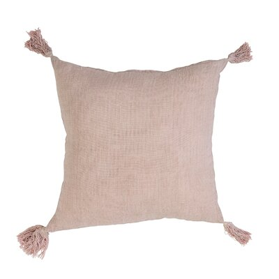Linen Throw Pillow Color: Rose