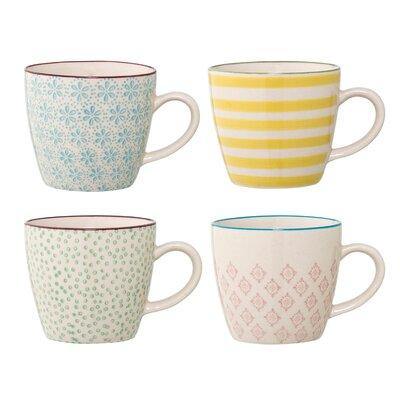 Bloomingville Patrizia 4 Piece Ceramic Mug Set A21105938SET