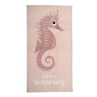 Lincoln Cotton Seahorse Rose Kids Rug