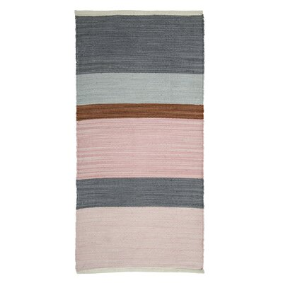 Fabric Pink/Gray Area Rug