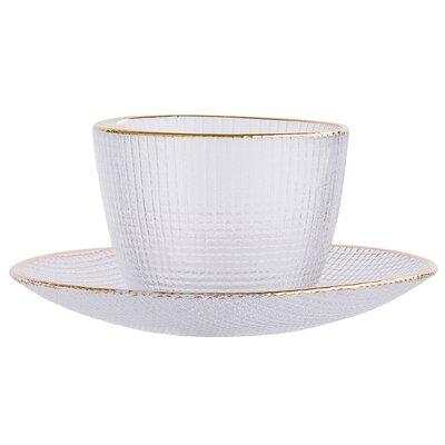 Vicki Glass Cup & Saucer A32907233