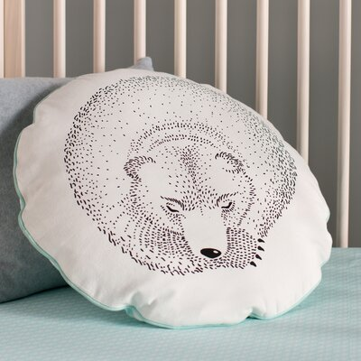 Rigoberto Sleeping Bear Cotton Throw Pillow