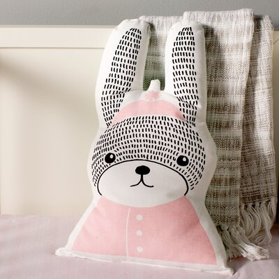 Rabbit Shaped Cotton Throw Pillow