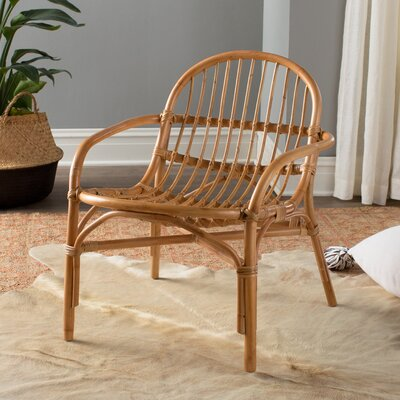 Rattan Armchair Fabric: Natural