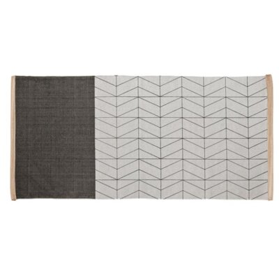 Printed Pattern Gray Area Rug