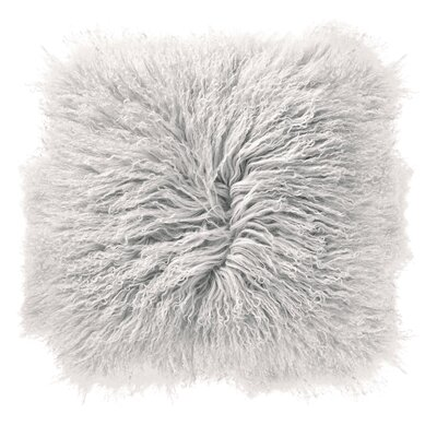 Borealis Lamb Fur Throw Pillow Color: White