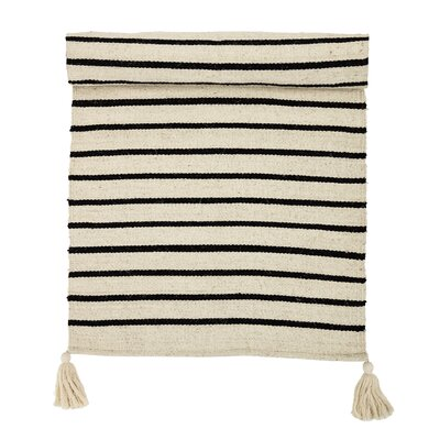 Palermo Hand-Woven Cotton Tan/Black Area Rug