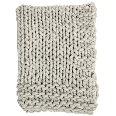 Clotilde Chunky Blend Knit Wool Throw