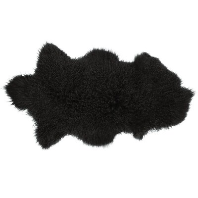 Willenhall Sheepskin Black Area Rug