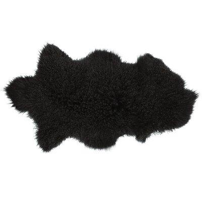 Willenhall Sheepskin Black Area Rug