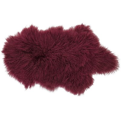 Willenhall Sheepskin Red Area Rug