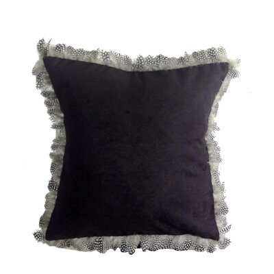 Alexander Les Plumes Feather Trim Throw Pillow Color: Black