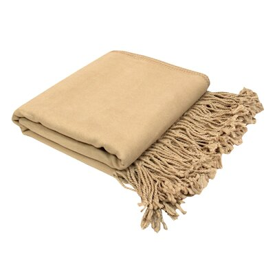 Pur Bamboo Rayon Velvet Throw Color: Nude BT-101NUDE