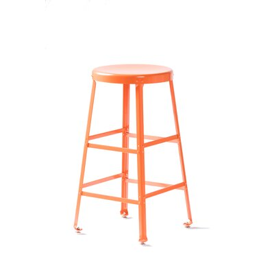 Bar Stool Size: 26 inch H, Finish: Orange
