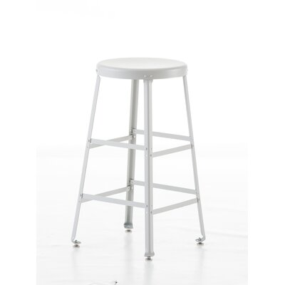 Bar Stool Size: 24 H, Finish: White