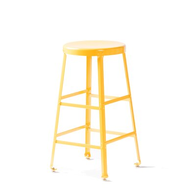 Bar Stool Size: 26 inch H, Finish: Yellow