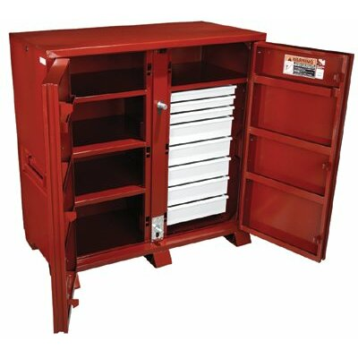 Jobox Industrial Cabinets - jobox steel 2 door drawer cab. 60.13x30.25x60.75 at Sears.com