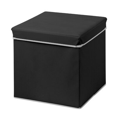 Collapsible Ottoman Upholstery: Black Onyx