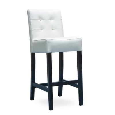 Allie 30 Bar Stool Upholstery: Ivory