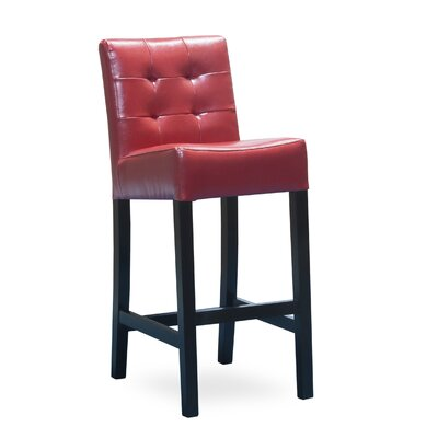 Allie 30 Bar Stool Upholstery: Red