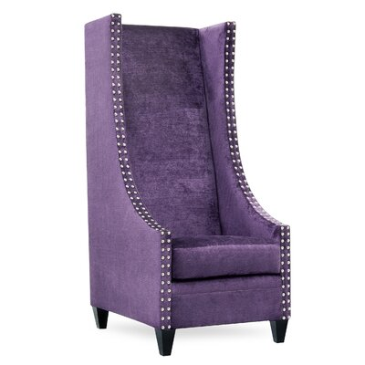 Saige Tall Wingback Chair Upholstery: Bershire Amethyst