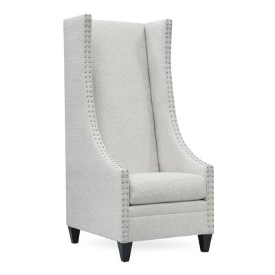 Saige Tall Wingback Chair Upholstery: Texaco Pearl