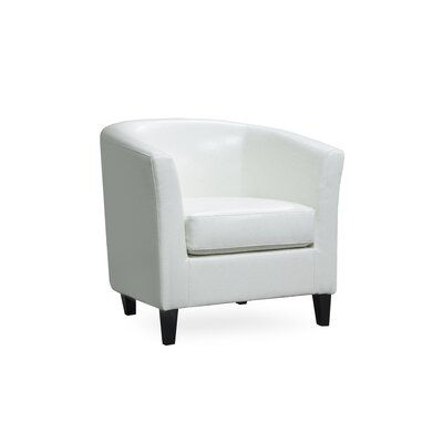 Louis Club Chair Upholstery: Ivory