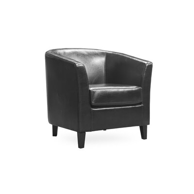 Louis Barrel Chair Upholstery: Black