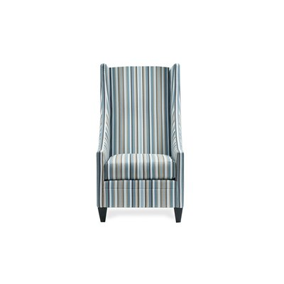Saige Short Wingback Chair Color: Divine Pool