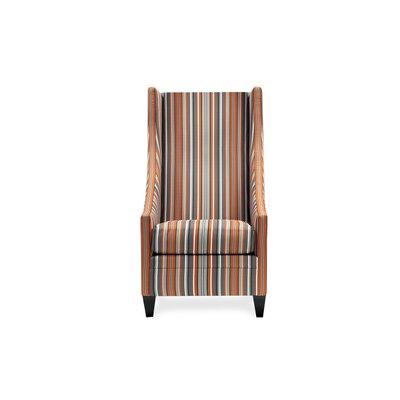 Saige Short Wingback Chair Color: Divine Granite