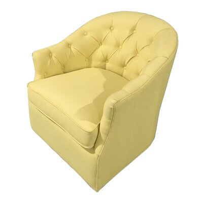 Elsa Swivel Club Chair Color: Sachi Sesame