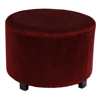 Lyric 22 Round Ottoman Upholstery: Red Velvet